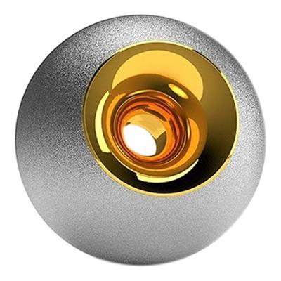 Chrome & Gold Sphere Pet Urn