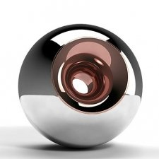 Chrome Copper Orb Urns