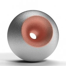 Chrome Copper Sand Orb Urns