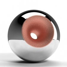Chrome Copper Splice Orb Urns