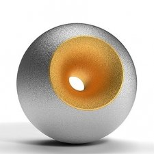 Chrome Gold Sand Orb Urns