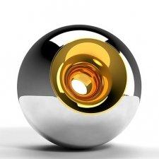 Chrome Gold Sphere Pet Urn