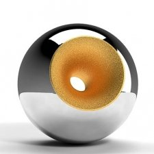 Chrome Gold Splice Sphere Pet Urn