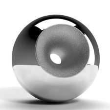 Chrome Modern Orb Cremation Urns