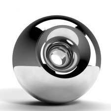 Chrome Orb Cremation Urns