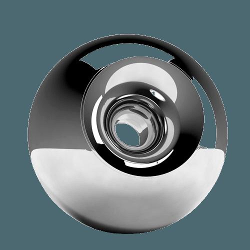 Chrome Orb Cremation Urn