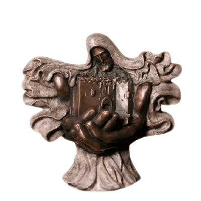 City of Peace Small Bronze Cremation Urn