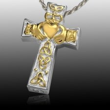 Claddagh Trinity Cremation Pendant V