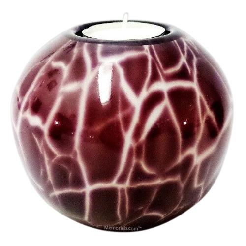 Claret Candle Glass Pet Urn