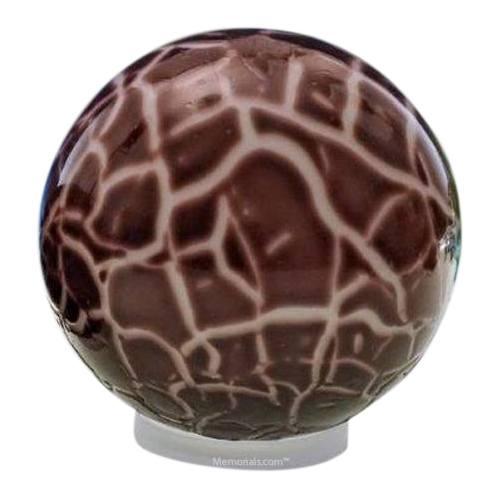 Claret Orb Glass Pet Urn