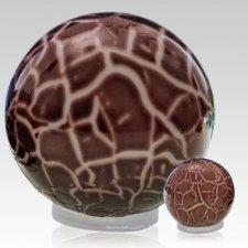 Claret Orb Glass Pet Urns