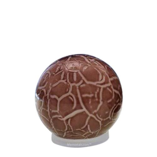 Claret Orb Small Glass Pet Urn