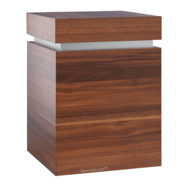 Clarity Walnut Cremation Urn