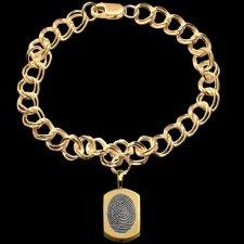 Classic 14k Gold Cremation Print Bracelet