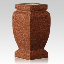 India Red Classic Granite Vase