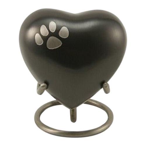Classic Paw Print Heart Slate Urn