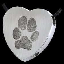 Classic Heart Paw Stainless Print Cremation Keepsakes