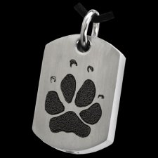 Classic Paw Tag Stainless Print Cremation Keepsake