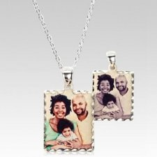 Classic Square Photo Pendant