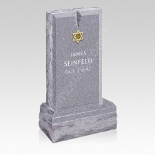 Classic Star Upright Cemetery Headstone