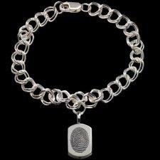 Classic Sterling Cremation Print Bracelet