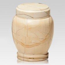 Classic Teak Marble Pet Urn
