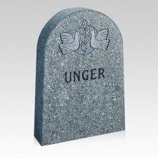 Classic Upright Cemetery Headstone
