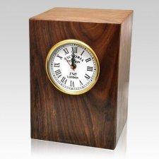 Classical Wood Clock Cremation Urn