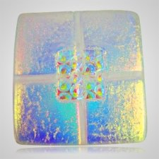 Clear Blue Cremation Ashes Tile