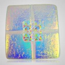 Clear Blue Pet Cremation Ashes Tile