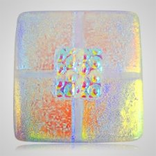 Clear Gold Cremation Ashes Tile