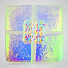 Clear Green Cremation Ashes Tile