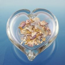 Clear Heart Glass Keepsake