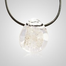 Clear Memorial Jewelry Pendant