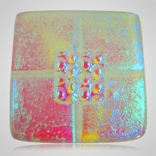 Clear Pink Cremation Ashes Tile