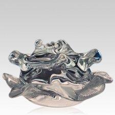 Clear Rose Glass Pet Urn