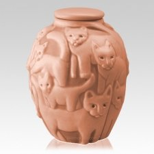 Clever Cat Apricot Cremation Urn