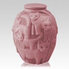 Clever Cat Blush Cremation Urn