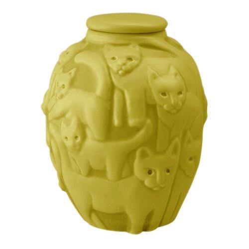 Clever Cat Citron Cremation Urn
