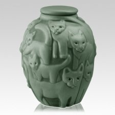 Clever Cat Forest Cremation Urn