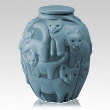 Clever Cat Jade Cremation Urn