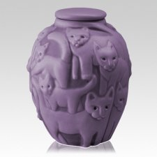 Clever Cat Lilac Cremation Urn