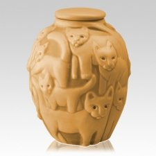 Clever Cat Marigold Cremation Urn