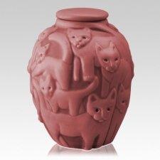 Clever Cat Rose Cremation Urn