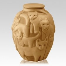 Clever Cat Sunflower Cremation Urn
