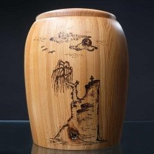 Cliffside Wood Cremation Urn