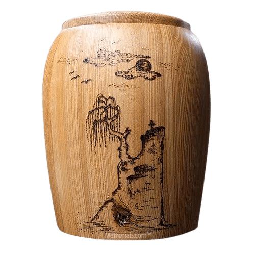 Cliffside Wood Cremation Urn