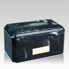 Cloudburst Black Marble Cremation Urn