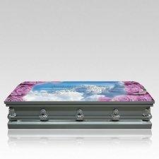 Clouds & Roses Casket