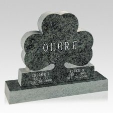 Clover Leave Companion Granite Headstone
